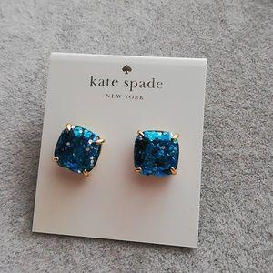 Kate spade blue square earrings